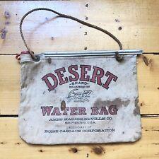 Vintage Canvas Desert Water Bag Ames Harris Neville San Francisco Boise Cascade