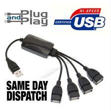 PORTA USB 4 HUB - 4 porte USB 2.0 USB SPLITTER PORTATILE STAMPANTE fotocamera telefono Mac PC