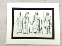 Costume Print Medieval Eastern Empire King Basil II Macedonian Dress Emperor