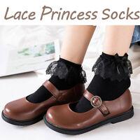 Atmungsaktive Baumwollspitze Rüschen Princess Socken Bow Knot Short Sock Frauen