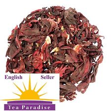 HIBISCUS DRIED FLOWERS TEA - ROSELLA - LOWERS CHOLESTEROL & BLOOD PRESSURE