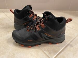Merrell MQM Flex 2 Mid GTX Gore-Tex Black Grey Orange Men Outdoors Shoes
