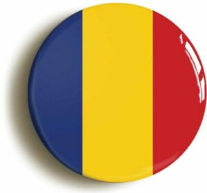ROMANIA ROMANIAN NATIONAL FLAG BADGE BUTTON PIN