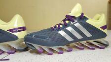 adidas SpringBlade Running Shoe Gray/Purple/Yellow G97688 women 8.5 men 7.5
