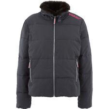 SUPERDRY Women's Black & Pink Padded Jacket, size Medium