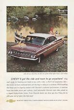 Original 1959 Chevrolet Impala Magazine Ad - Ride And Room To Go Anywhere