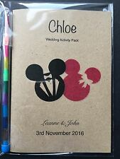 Disney Personalised Vintage Childrens Kids Wedding Favour Activity Pack Book