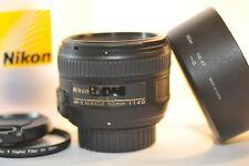 Nikon AF-S Nikkor 50mm f/1.4 G FX lens HB-47 NICE for DF D750 D500 D5600 D7500