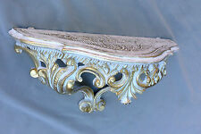 Wall Console White Gold Table Baroque Retro 38x16x20 ANTIQUE SHELVES FILING