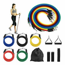 Resistance Band Sets Yoga Pilates Abs Exercise Fitness Tube Workout Bands 11PCS