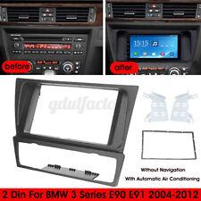 2 Din Radio Stereo Fascia Panel Frame Fitting Kit For BMW 3 Series E90 E91 E92