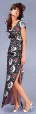 C-LANDIS COUTURE-Kleid NEU 36-38 Unikat Seide Schwarz Weiß Rosa Einzelstück