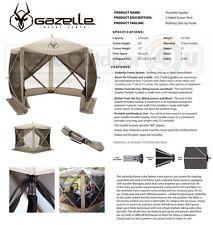 25500 Gazelle Portable Camping Yard Gazebo Screened Family Canopy 5 Sided