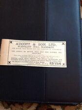 62-8 Ephemera December 1931 Advert Aucott & Son Margate Fashion House