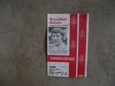 1972-73 (Sep)  Airdrieonians v Dundee  - Scottish  Division One