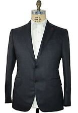 ISAIA Napoli Blue Two-Button Suit 42 (EU 52) Handmade in Italy ~ Flannel Wool