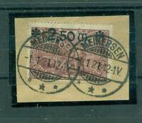 Deutsches Reich, Reichspostamt Berlin Nr. 118 a gestempelt Briefstück