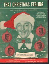 That Christmas Feeling 1950 Bing Crosby Sheet Music
