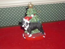 "Kurt Adler 4.25""- Pet Parade -Boston Terrier With Tree Ornament-New"