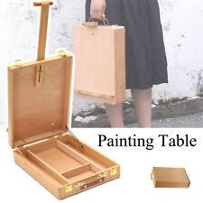AUS Portable Folding Easel Art Drawing Painting Wood Table Desktop Box Board