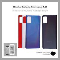 Vitre arriere cache batterie pour Samsung Galaxy A41 avec adhesif et logo