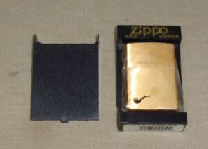 2003 Zippo Solid Brass Pipe Lighter MIB