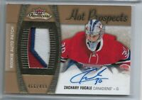 2015-16 Fleer showcase Hot Prospects Rookie patch auto Zachary Fucale 466/499