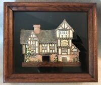 David Winter Cottages ~ The Plucked Ducks ~ in Wood Shadow Box Frame ~ W/ Box