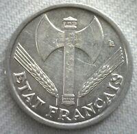 1944 France 1 Franc Aluminum Coin Uncirculated Coin