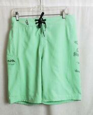 Salt Life Live Salty Mens Board Shorts Size 30 Green Skull Side Pocket NEW
