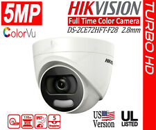 HIKVISION 5MP ColorVU Full Time Color Dome Camera 4in1 HD Analog WDR 2.8mm IP67