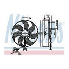 Fits VW Golf MK4 1.9 TDI 4motion Nissens Engine Cooling Left Radiator Fan