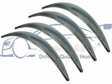 4 x chrome wing/wheel arch trim extensions set (avant/arrière conducteur/passager)
