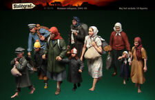 1:35 Russian Refugees World War 2 (WW2) 10 Figures Resin Model Kit