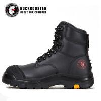 ROCKROOSTER Men's Lace-up Steel Toecap Waterproof Safety Work Boots Knox AK245
