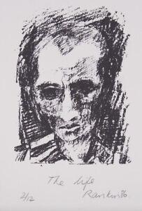 David RANKIN 'The life' original signed lithograph on paper monotone portrait
