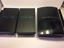 LOT OF 3 SONY PlayStation 2 Black Video Game Console  & SONY PlayStation 3
