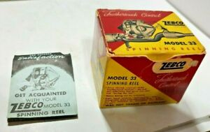 Vintage ZEBCO Model 33 Spinning Fishing Reel  Box & Instructions ONLY NO REEL
