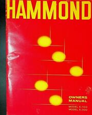 Hammond Owners Manual Model E-100 E-300 1965