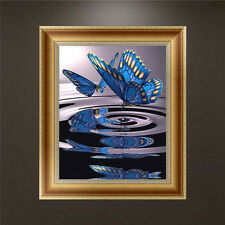 DIY 5D Diamond Embroidery Painting Blue Butterfly Cross Stitch Craft Home Decor