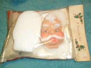 Vintage Santa Gift Basket Christmas Kit Sealed