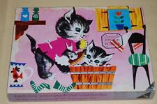 Antique 1950s Ravensburg Pussycat's Bath 20 Pcs Wooden Jigsaw Puzzle