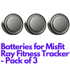 Alkaline Button Cell Battery for MISFIT RAY Fitness Tracker - Pack of 3