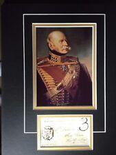ERNEST AUGUSTUS - DUKE OF CUMBERLAND & KING OF HANOVER - SIGNED PHOTO DISPLAY
