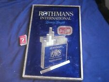 ROTHMANS INTERNATIONAL LUXURY LENGTH CIGARETTE TIN SIGN VINTAGE RARE - FREE POST