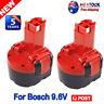 2X 9.6V 2.0Ah Rechargeable BAT048 Battery for Bosch PSR 960 2 607 335 32609-RT
