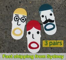 Funny Socks - 3 pairs - Fun Faces - Novelty Socks - Ankle Socks - Unique Socks
