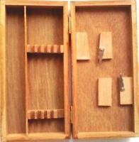 caisse en bois pour instruments, etui bois, Médecine etudiants