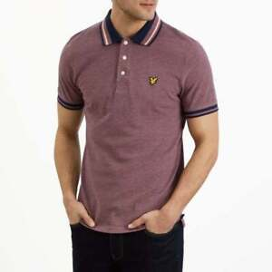 Lyle & Scott Oxford Tipped Polo Shirt | Navy - Size Medium