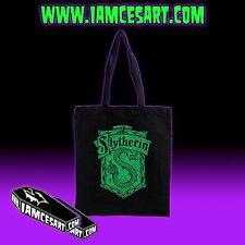Slytherin Black Tote Bag Movie Harry Potter Wizards Hogwarts iamcesart